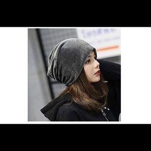 Unisex gray beanie hat